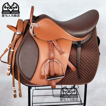 The new British integrated saddle double belly with saddle size dwarf saddle field trainer equestrian special saddle