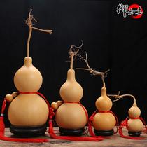 Gourde pendentif naturel de grande taille de décoration de la maison de la ville de Fengshui mal lucky man jouer à la main de robinet de torsion de la chambre dhôtes