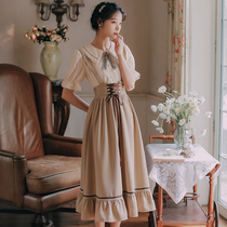 French first love girl strap suit dress female spring and summer 2021 new fairy skirt long skirt thin section