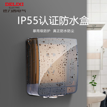 Dressi switch waterproof box IP55 transparent splash-proof socket waterproof box bathroom waterproof cover 86 type