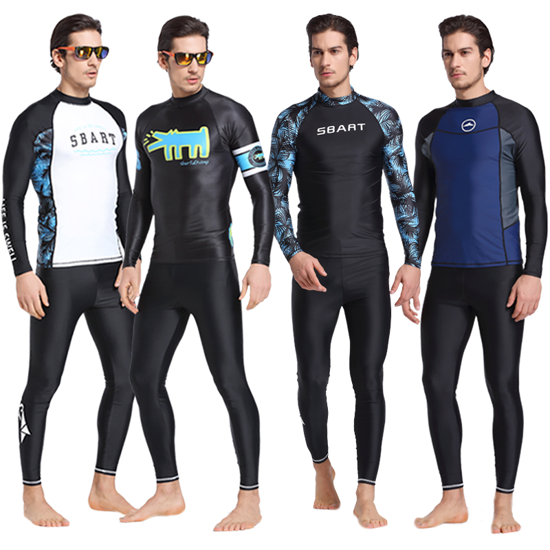 Sbart/Shark Bart diving suit male split long sleeve sunscreen swimsuit outdoor surfing suit snorkeling suit jellyfish clothing