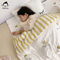 Small sweet potato eyelash Crown INS baby bedding three-piece bed cover bed sheets quilt pillowcases Cotton
