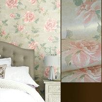 De grandes fleurs américain rétro pays fond mur chambre salon papier peint papier peint York États Unis importations de papier pur