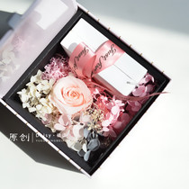 Simple Jewelry immortal Flower gift Box Valentines Day proposal ring necklace earrings gift Box Jewelry Box Exquisite packaging