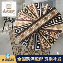 Wave wire waist Line gold-plated wave line tile living room tile microcrystalline stone aisle parquet floor line