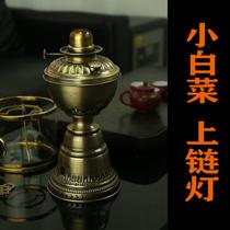 Kerosene lamp air lamp pure copper Chinese retro Chaoyu tea set open fire boiling water brewed tea stove to taste kung fu tea cabbage