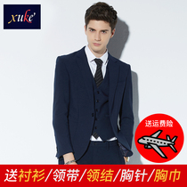 Four Seasons Korean slim handsome men suit suit
