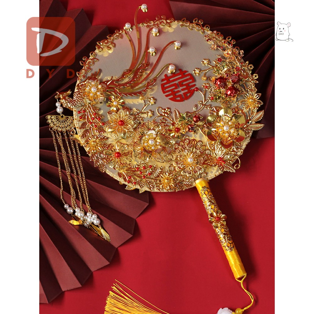 XiuYu Chinese embroidery wedding group fandiy material package simple arm-style high-end red lussou immoral flowers