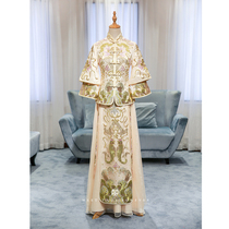 Modified Chinese maiden Golden thin longfeng gown