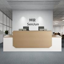 Office front desk Simple modern company consulting welcome Table Beauty Salon Cashier Creative Custom Bar