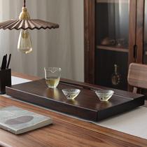 Малый мост поток воды черное твердое дерево чайная тарелка целый кусок дерева небольшой чайный стол дома простой кунг-фу чай набор полумесяца