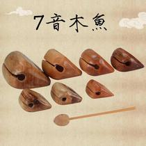 The new musical instrument old-fashioned wooden fish law method temple 唸 by the small wooden ceremony Buddha large monk hit