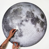 Пятно Канада импортирует круглую головоломку Apollo 11 к 50-летию запуска ограниченной серии Луна 1000 шт.