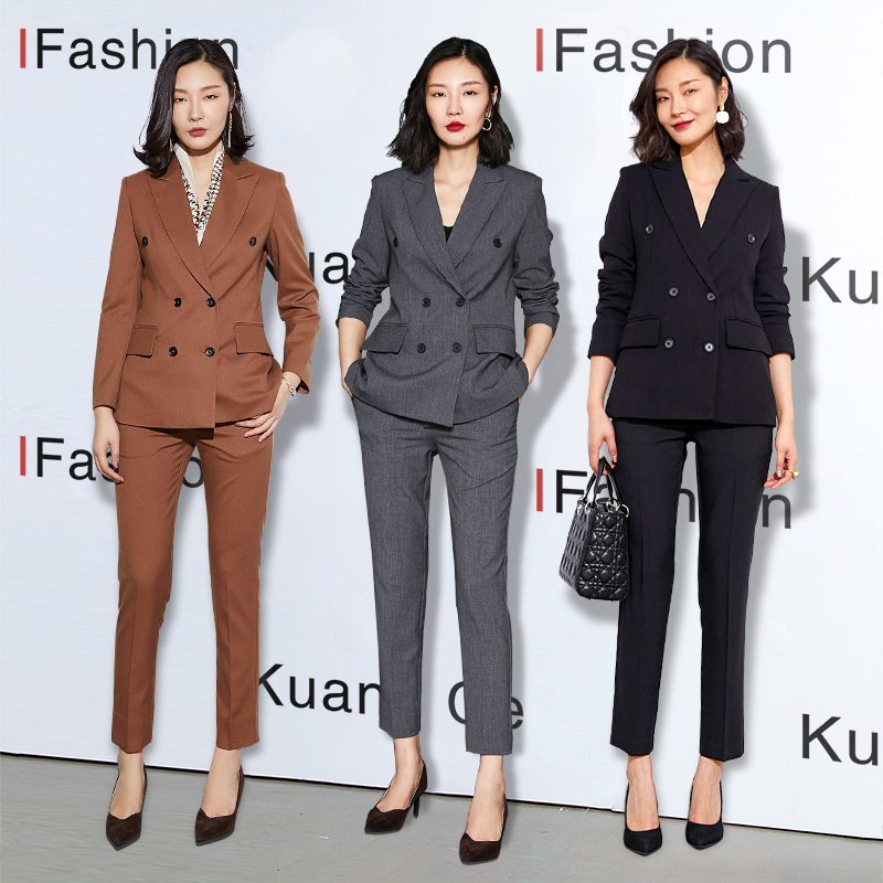 Kuang book suit Female president high-end career spring slim suit Formal Korean style temperament fashion work clothes