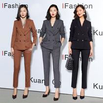 Kuangshu suit suit suit female president high-end professional spring and autumn slim suit dress Korean temperament fashion overalls