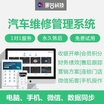 Genuine Black Valley car maintenance beauty software member management billing system auto repair factory to expand customer marketing mobile phone version