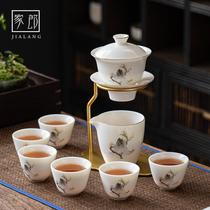 Jialang lazy automatic tea maker Chinese high-grade tea set Household teacup Light luxury ceramic teapot gift box