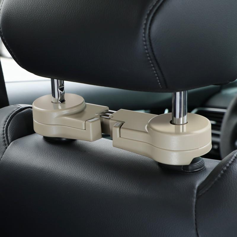 Автомобиль невидимый крюк Спинка автокресла многофункциональный двойной крюк Автомобильные принадлежности Спинка заднего сиденья творческий маленький крючок