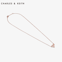 CHARLES & KEITH accessories CK5-22120186 European and American metal chain lock lady necklace