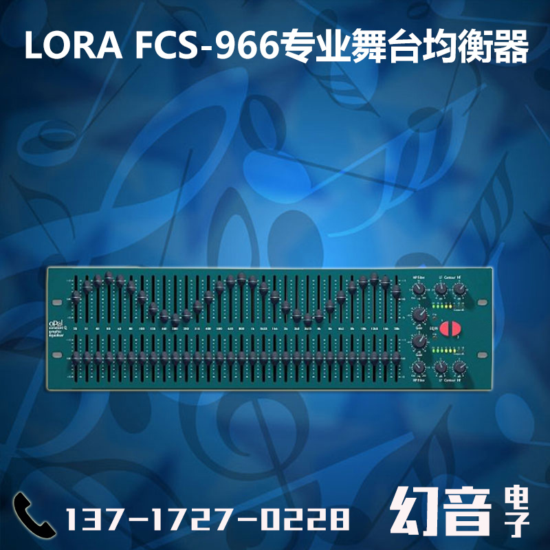 LORA FCS-966 Professional Stage Dual 30 Section Professional Equalizer Dual Channel