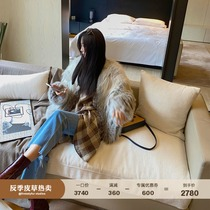 Fu Zhien Snow wild dream imported fox hair in the long section of the young new anti-season fur coat female