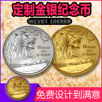 999 pure silver coin custom gold coin badge medal students will commemorate the coin anniversary gift engraved logo
