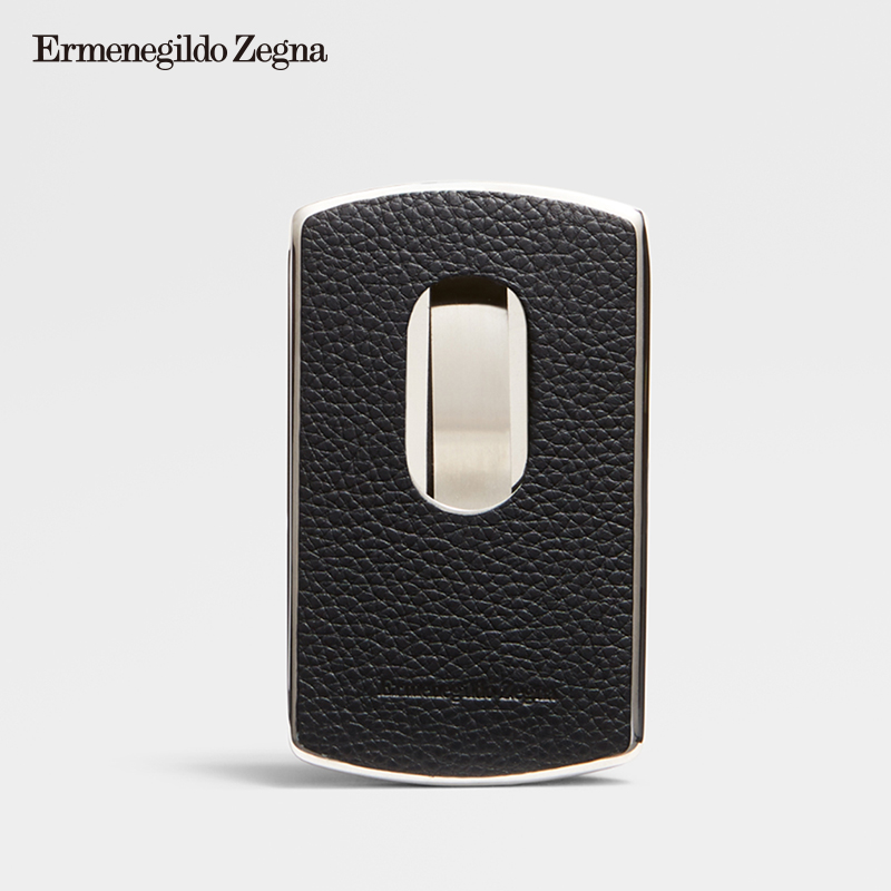 Ermenegildo Zegna Men's Classic Leather Business Card Clip