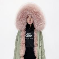 Parker suit autumn and winter 2021 new fox fur inner container detachable fur coat coat female young anti-season
