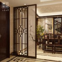 The new Chinese screen separates the living room small household type into the household Xuanguan simple modern dining room hotel solid wood seat screen