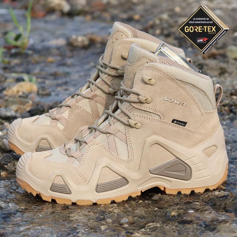 LOWA Military Edition Zephyr Mid GTX Spring Summer Outdoor Waterproof Help Mountaineering Shoes Mens Walking Shoes Combat Boots