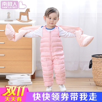 Antarctic child baby boy feather baby jumpsuits