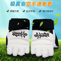 Silver Sheng Pole glove karate boxer Karate protective finger point finger gloves Taekwondo Hand