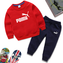 Childrens sweater set 2020 spring and autumn new boys and girls fashion sportswear cotton two sets of Western