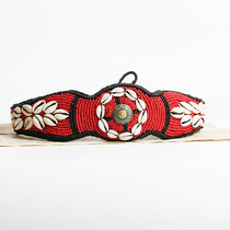 Tibet Tibetan Handmade national wind exquisite belt fabric embroidery Shell Belt hundred personality female waist decoration