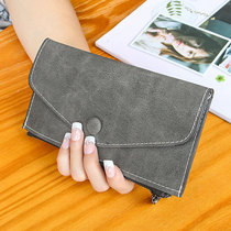 2016 new ultra-thin envelopes hand purse female long section of the Korean version of a small fresh simple student ladies wallet