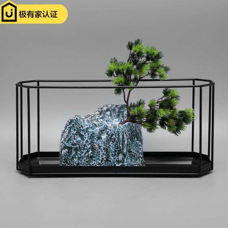 Modern New Chinese Creative Living Room Porcelain Flower Ware Model Room Flower Arrangement Porcelain Vase Soft Decoration