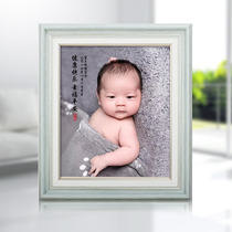 Baby hair painting pig and dog year baby baby full moon 100 days Photo portrait Fetal hair handicraft souvenir gift customization