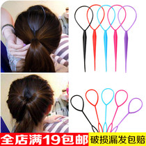 Korean Hair trim disc hair needle pull needle disc transmitter simple fresh hairstyle hair knitting tool Headwear Hair Accessories