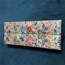 has been tied antique jewelry box in the Qing Dynasty Suzhou embroidery exquisite old embroidery storage box