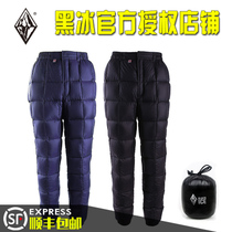Black Ice down pants outdoor down pants thickened repellent velvet Aurora 100 200 winter Snow Mountain F8514