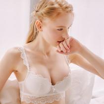 c042 gathered sexy lace white bra set
