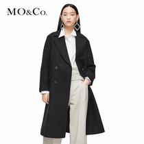 MOCO winter solid color medium-length version of Nizi coat suit fur coat female MBO4OVCX22 Moan