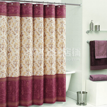European Luxury polyester environmental protection cloth thickening waterproof mildew bathroom curtain curtain partition Mona Luo shower curtain