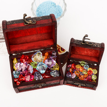 Childrens Gemstone Acrylic crystal string pirate jewelry Box toys male and female children home gift Jewelry