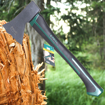 Old a double color handle woodworking axe Mountain camping axe logging Fire 600G