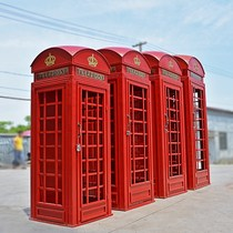2018 Retro Custom European Red Phone Booth Large Soft Decoration Wind Decorative Props Model