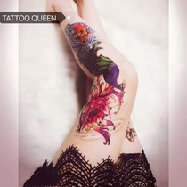Flower arm girl TATTOO W flower leg full arm carp phoenix tattoo sticker big picture