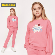 Balabala girl's spring and toilet suit children's clothing