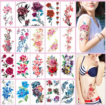 20 large size tattoo stickers waterproof men and women durable rose arm ins wind not permanent tattoo cover scar stickers