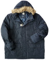 Chest 140-150 foreign Trade fat Guy oversized code men imitation Wolf Hair hat cold and warm in the long duvet jacket